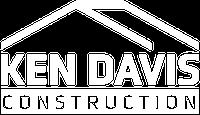 Ken Davis Construction Logo White Version for Site Footer